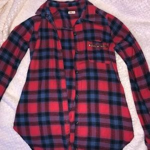 Red/Blue Button Down Flannel